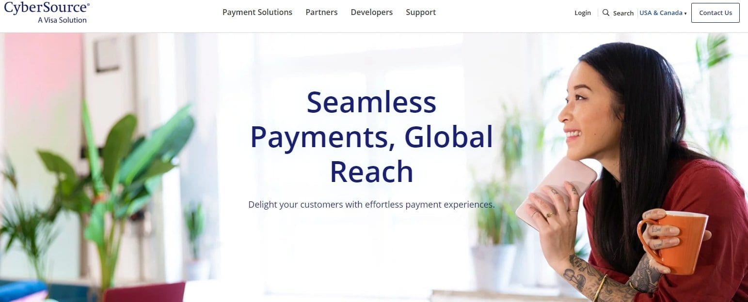 cybersource online payment solution