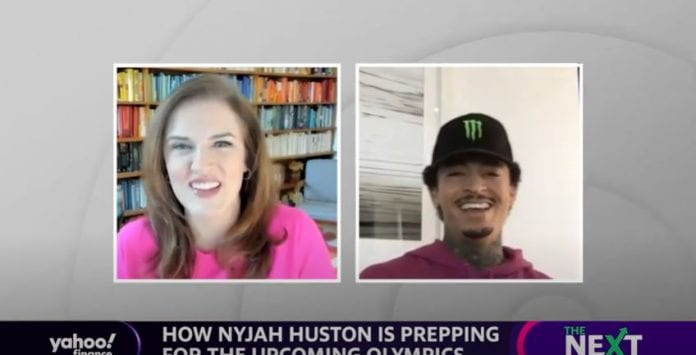 Skateboarder on being in the Olympics: 'I'm stoked,' says Nyjah Huston