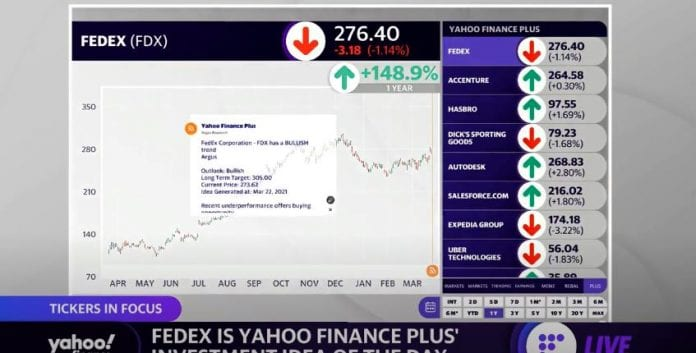Yahoo Finance Plus investment idea of the day is FedEx