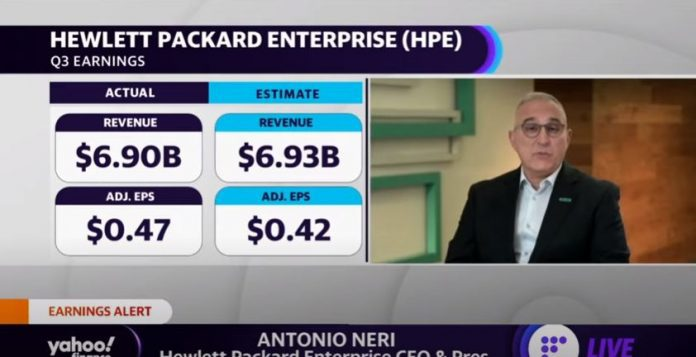 HPE CEO discusses earnings, chip shortage, and company outlook