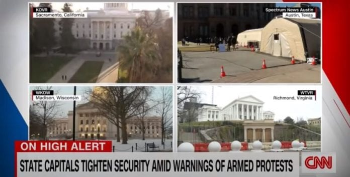 All 50 states preparing for possible violence ahead of inauguration day