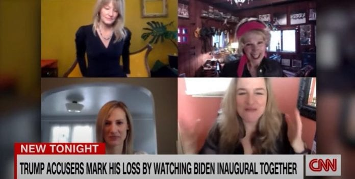 Trump accusers celebrate his loss with Inauguration Zoom call