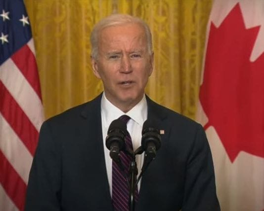 President Biden and Canadian Prime Minister Trudeau make statements after virtual meeting