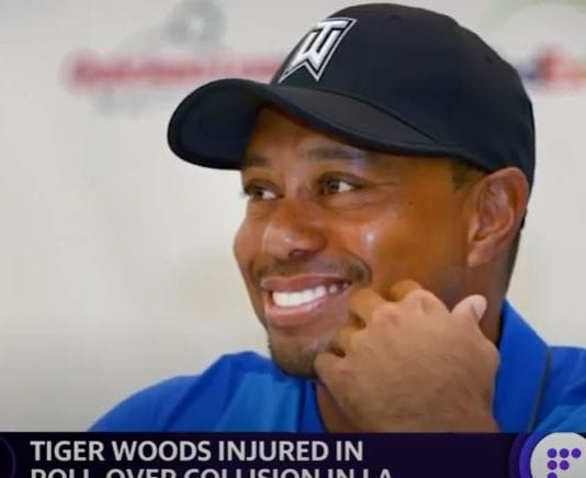 Tiger Woods injured in a roll-over collision in LA