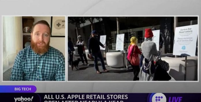 Apple opens all US retail stores after being closed for nearly a year due to coronavirus