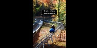 Cliffside coaster in Lake Placid, New York follows the same track as the 1932 and 1980 Olympics