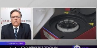 Co-Diagnostics CEO discusses coronavirus testing: We believe robust testing is key to normalizing