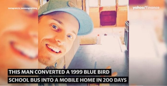 Coast Guard vet converted a 1999 school bus to a luxury mobile home in 200 days