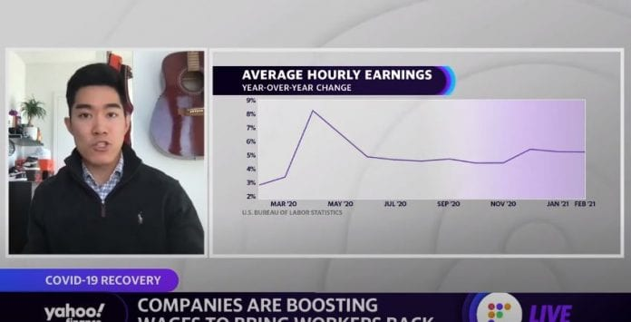 Companies are boosting wages to bring workers back amid COVID-19 recovery