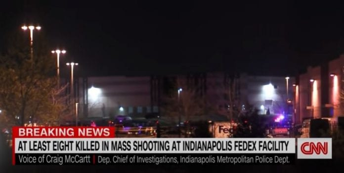 At least 8 dead in shooting at FedEx facility