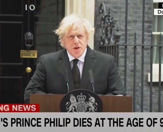Boris Johnson pays tribute to Prince Philip