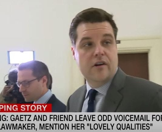 Hear odd voicemail Gaetz and friend left female Florida lawmaker