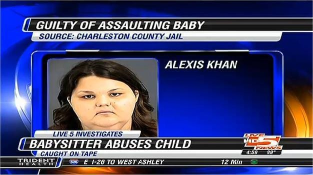 Family Dog save 7 months old baby from an abusive babysitter